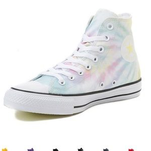 NIB Converse tie dye pastel high top sneakers Sz 8